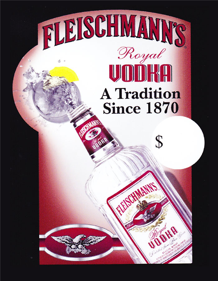 Fleischmann's Vodka Display Card